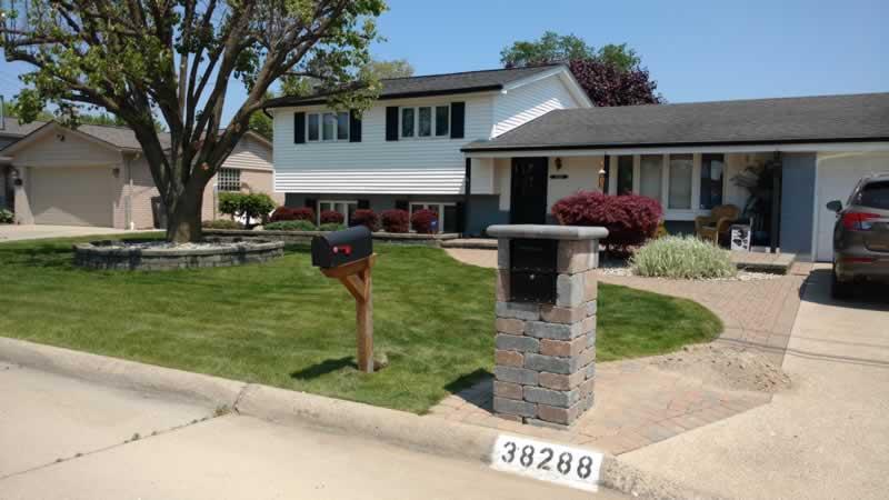 Harrison Township Brick Paver Mailbox & Paver Walkway