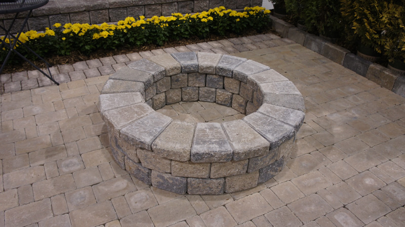 Macomb County Brick Paver Fire Pit