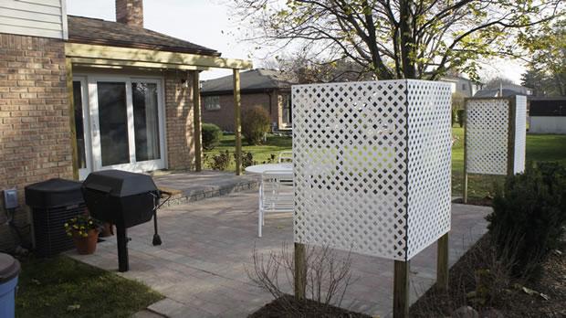 Clinton Twp, MI:  Natural Stone / Brick Paver Design Ideas for Small Patios